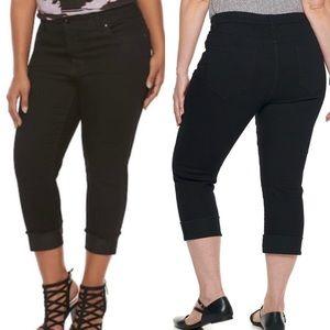 Jennifer Lopez's Black Capri Jeans Plus Size 18W